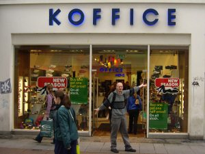 KOffice advertisement at Grafton street